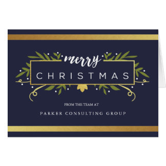 Gilded Christmas Corporate Card