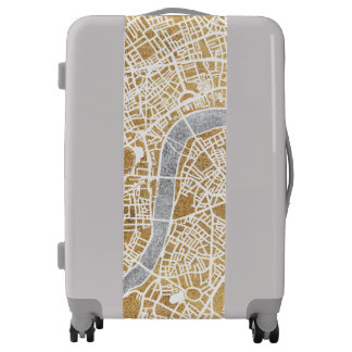 Gilded City Map Of London Luggage