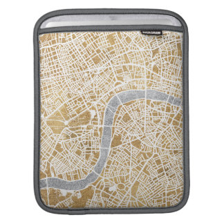 Gilded City Map Of London Sleeve For iPads