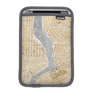 Gilded City Map Of New York Sleeve For iPad Mini