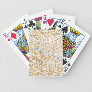 Gilded City Map Of Paris Bicycle Playing Cards