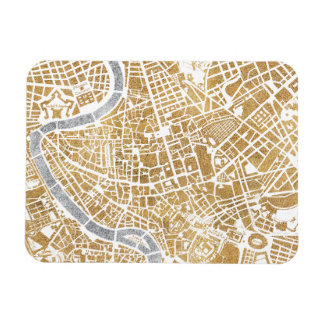 Gilded City Map Of Rome Magnet