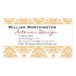 Gilded Damask White & Gold Elegant Business Cards