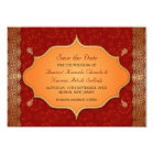 Gilded Edge Indian Frame Save the Date Card
