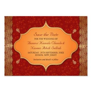 Gilded Edge Indian Frame Save the Date Custom Invitation
