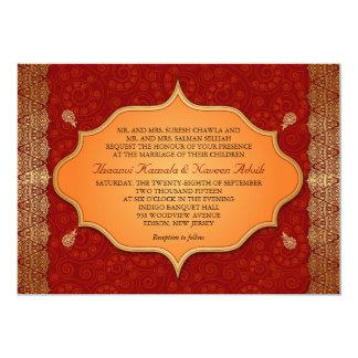 Gilded Edge Indian Frame Wedding Card