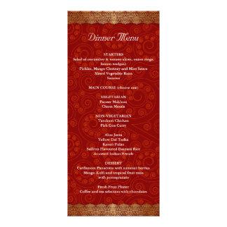 Gilded Edge Indian Frame Wedding Menu