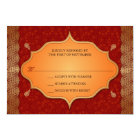 Gilded Edge Indian Frame Wedding Reply RSVP Card