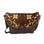 Gilded Flower Messenger Bag