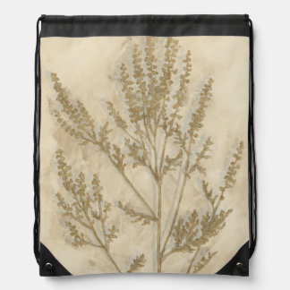 Gilded Foliage II Drawstring Backpack