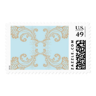 Gilded Frame - Renaissance, Blue and Tan Postage