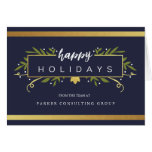 Gilded Holiday Corporate Card at Zazzle