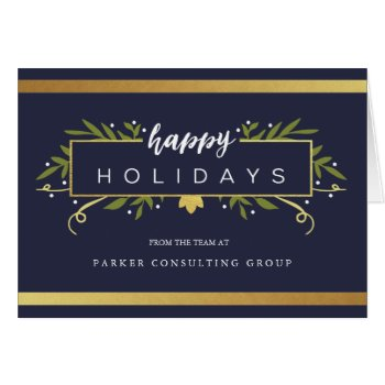 Gilded Holiday Corporate Card by Orabella at Zazzle