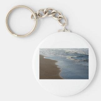 Gilded Horsfall Beach, Oregon Basic Round Button Keychain