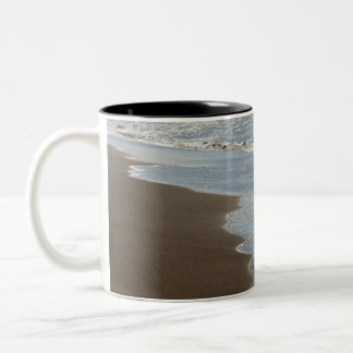 Gilded Horsfall Beach, Oregon Two-Tone Coffee Mug