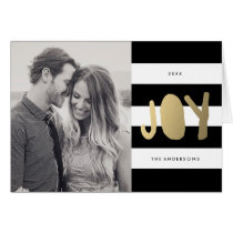 Gilded Joy | Holiday Photo Card