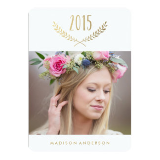 Gilded Laurel | Graduation Invitation