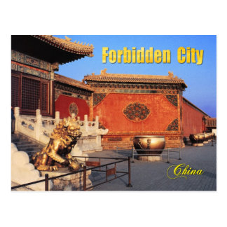 Gilded Lion at Forbidden City, Beijing, China Postcard
