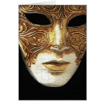 Gilded Mask Greeting Card