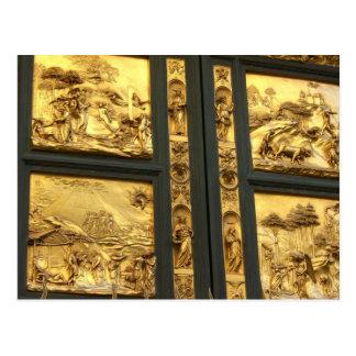 Gilded panels Florence Postcard