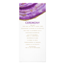 Gilded Purple Agate Wedding programs