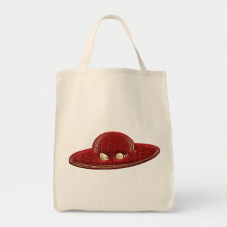 Gilded Red Hat Organic Grocery Bag