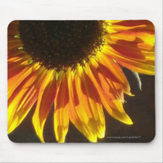 Gilded Rosy Sunflower Mouse Pads