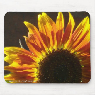 Gilded Rosy Sunflower Mouse Pad
