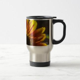 Gilded Rosy Sunflower Mugs