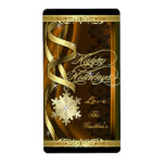 Gilded Snowflake Dreams Holiday Wine Bronze Label