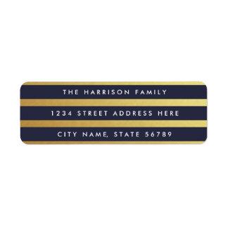 Gilded Stripes Custom Color Return Address Labels