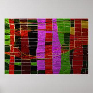 Gilded Stripes Poster