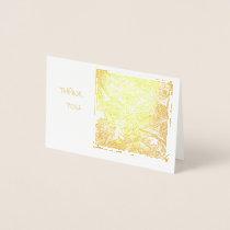 Gilded Thank You Notes, Hidden Owl Design Foil Card