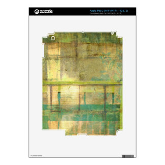 Gilded Turquoise and Green Abstract Painting iPad 3 Decal