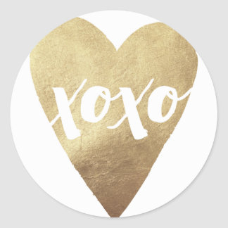 Gilded XOXO Valentine's Day Sticker - White