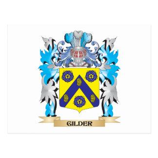 Gilder Coat of Arms - Family Crest Postcard