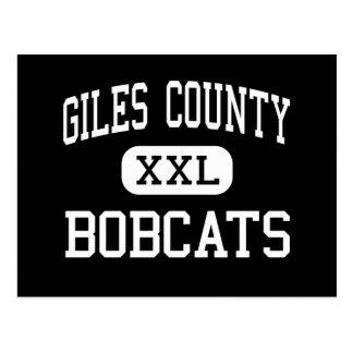 Giles County - Bobcats - High - Pulaski Tennessee Postcard