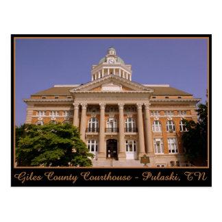Giles County Courthouse - Pulaski, TN Postcard