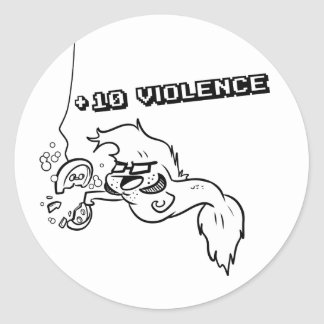 Giles Learns Violence Round Sticker