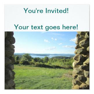 "Gilford New Hampshire Invitación 5.25"" X 5.25"""