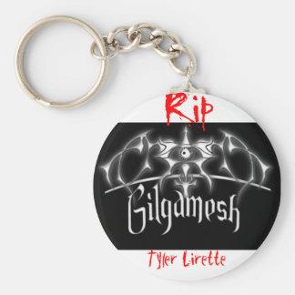 Gilgamesh, rasgón, Tyler Lirette Llavero Redondo Tipo Pin