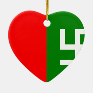 Gilgit Baltistan United Movement, Colombia Politic Double-Sided Heart Ceramic Christmas Ornament