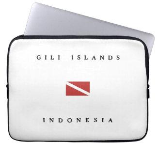 Gili Islands Indonesia Scuba Dive Flag Laptop Sleeve