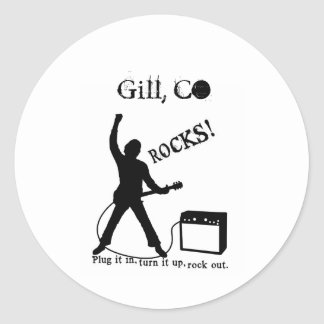 Gill, CO Round Stickers