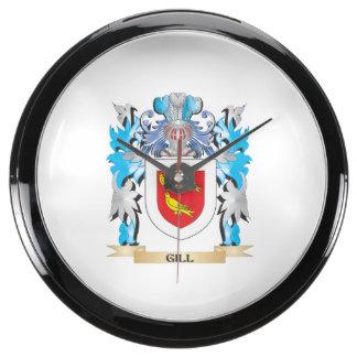 Gill Coat of Arms - Family Crest Aquavista Clocks