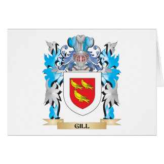 Gill Coat of Arms - Family Crest Stationery Note Card
