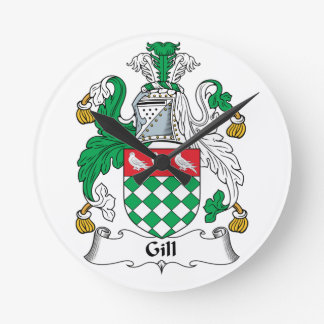 Gill Family Crest Wallclocks