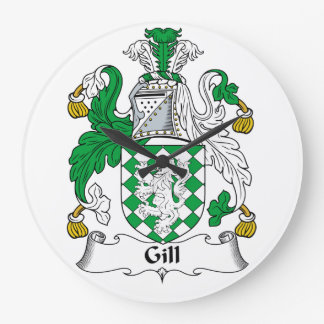 Gill Family Crest Wall Clock
