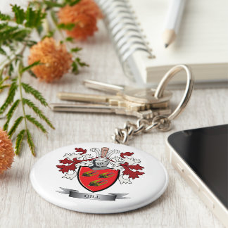 Gill Family Crest Coat of Arms Keychain