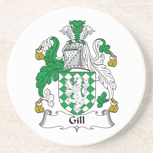 Gill Family Crest Drink Coasters
